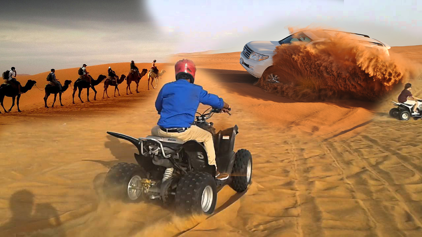 Dubai City Tour + Desert Safari + Dhow Cruise + Quad Bike
